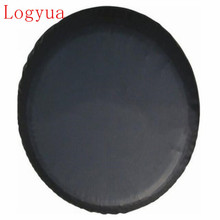"1Pcs Pure Black 14"", 15"",16"",17"" inch PVC PU Spare Tire Tyre Wheel Valve Cover For Cars Wheels Accessories(China)"