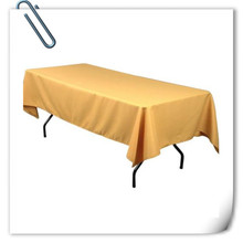 Big Discount  !!! 10pcs 150*320cm  Rectangle Gold   table cloth 180GSM For Wedding Events &Hotel & Banquet Free shipping