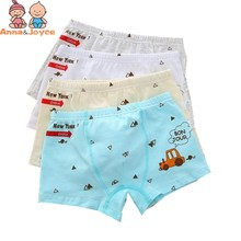 6pcs/lot free shipping Children's Underwear Boy's boxer Cartoon Car Shorts Pants Children's Printed Underwear(China)