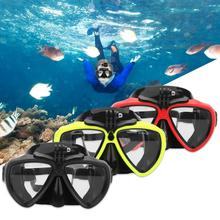 TELESIN Diving Goggles for GoPro Sjcam Camera Silicone Goggles Waterproof Goggles Glass Scuba Diving Snorkel Swimming(China)