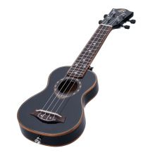 "21"" Soprano Ukulele 4 Strings Spruce Ukulele Ultrathin Special Black Color(China)"