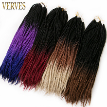 Box Braids Hair 20 inch 10 pack Crochet Hair Extensions 20 roots/pack VERVES purple,brown blond color