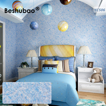 Self Adhesive Wallpaper Modern 3D BESHUBAO Kid's Room Silk Plaster Decor Classic Coating Cotton Sticker Wall Coating 1kg/Pack