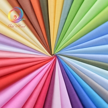 Random Mix Solid Color Cotton Fabric For Patchwork Quilts Fabric Bundle For Sewing Quilting Cloth Crafts MaterialsTissue 38pcs(China)