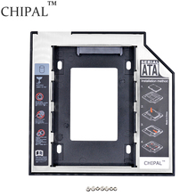 "CHIPAL 2nd HDD Caddy 9.5mm SATA 3.0 2.5"" SSD Case Hard Disk Drive Enclosure with LED for Notebook CD/DVD-ROM / Plastic Aluminum(China)"