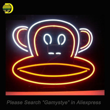 Monkey Ape Neon Sign Glass Tube electronic signs Neon Bulb Sign Beer lighted Lamp Board ARTWORK Handcraft light up for sale(China)