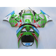 Customize ABS motorcycle body fairing kits for Kawasaki ZX6R 1998 1999 red green 26 full Fairings bodywork Ninja 636 ZX 6R 98 99