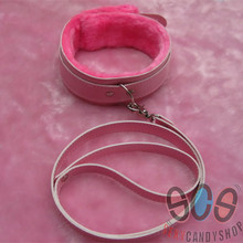 Buy Erotic Fetish Bondage Sex Toys Couples New Slave Collar Sex Adult Game Neck Pink Color Leather Plush Collar Ring