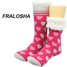 Buy Fralosha New fashion Women socks Warm Home Shoes Indoor Floor Socks Fall Winter Soft Floor Slipper Multi-pattern socks for $12.74 in AliExpress store
