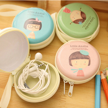 Cute Mini Hold Case Girls Storage Case For Headphones Earphone Earbuds Carrying Hard Bag Box Case For Keys Coin Travel Earphone