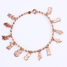 Xuping Baby Bracelet Special Twelve Zodiacs  Gold Color Plated Bracelets Jewelry Top Sale Design Charm Promotion S14-71828