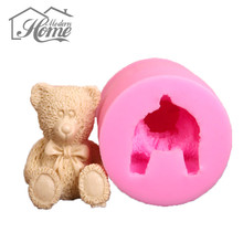 Cute Bear Silicone Mold Fondant Candy Cake Decorating Tools Sugarcraft Cake Chocolate Mold Gum Paste Candle Moulds