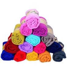 180cmx70cm Women Cotton Linen Scarf Muslim Hijab Muffler Casual Long Plain Casual Scarves Shawl Stole 15 candy colors for choose