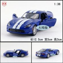 Gift for baby 1:36 1pc 12.5cm delicacy Dodge Viper GTS car alloy model boy children toy