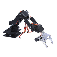 1set DIY 6 DOF 3D Rotating Metal Mechanical Manipulator Robot Arm Kit For Smart Car for Arduino Robot Parts Teaching Platform(China)