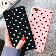 LACK For iphone6 Cute Love Heart Phone Cases Fashion ultrathin Hard PC Case For iphone 6S 7 7Plus Capa Shell Back Cartoon Cover(China)