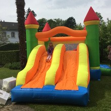 Dual Slide Bouncy Castle Inflatable Bouncer Jumping Bounce House Inflatable Trampoline with Slide for Residential Use(China)