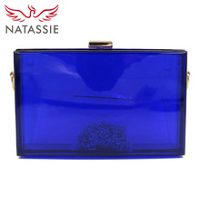 NATASSIE 2017 New Women Clear Bags Ladies Clutch Purses Female Bags