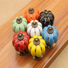 1pcs drawer handle pumpkim colorful single hole