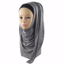 wholesale 180x80cm spring fall winter Scarf Fashion Brand top quality Cheap cotton jersey abaya niqab scarf hijab hat jd060(China)