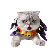 Factory direct sale wholesale price fashion Halloween dress up spider collar pet cat scarf(China)
