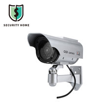 Waterproof Home Security Surveillance Fake Camera Solar Energy Imitation Red Flashing LED Light CCTV With Fake Video Cable