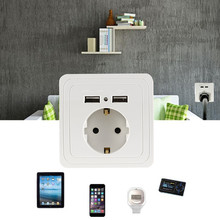 2017 New Version USB Port 2A Wall Charger Adapter EU Plug Socket Power Outlet Panel Energe Saving