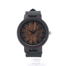 BOBO BIRD Wood Watches Men Leather Band Wooden Clock  Japan Movement Quartz Wrist Watches for men Casual relogio masculino C-C24