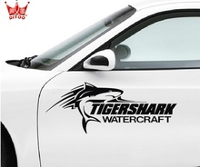 Reflective cover scratch bumper stickers scratch bumper tiger shark shark personality after close front bumper stickers