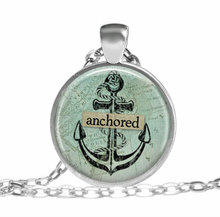2017 new hot Anchored anchor necklace Silver anchor pendant Vintage Marine Ocean Sea Anchor pendant Jewelry Gift Ideas for her