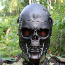 Terminator Full Face Mask Paintball Airsoftsports Plastic Tactical Mask for CS Wargame Cosplay
