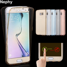 Nephy Mobile Phone Case For Samsung Galaxy S4 S5 S6 S7 edge S 4 5 Neo 6 7 Duos Cover Clear Silicon TPU Ultrathin Casing Etui Bag