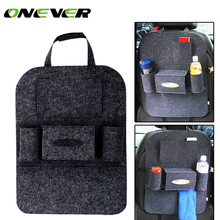 Onever Car Organizer Storage Bag Back Seat Box Organizer Car Accessories Car-stying Back Seat of Chair Stowing Tidying(China)