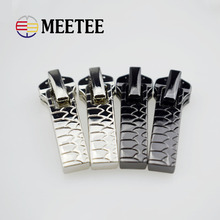 Free Shipping 10pcs Coat metal zipper head metal Dress zipper head bag decoration accessories for metal zipper