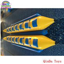 14 persons pontoon boat inflatable fly fish,double tubes inflatable flying banana boat for sale(China)