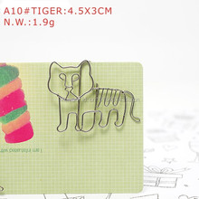 A10 TIGER PAPER/NOTE CLIP PRACTICAL/NOVELTY/CREATIVE STAINLESS HAND-MADE ART CRAFTS WEDDING&BIRTHDAY&HOME&OFFICE&GIFT&PRESENT(China)
