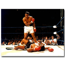Muhammad Ali the King of Boxing Art Silk Fabric Poster Print 13x18 24x32inch Super Boxer Sports Pictures for Home Decor