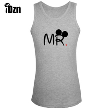Fitness Bodybuilding Clothing New Singlets Men Tank Tops Cartoon Mr Mouse Soul Mate Couple Kiss Sleeveless Vest Print undershirt