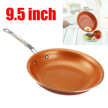 2017 New Arrival Non-stick Copper Frying Pan with Ceramic Coating And Induction Cooking Tool Frying Pan Dishwasher 9.5 Inches @X