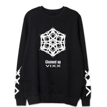 Fashion kpop vixx 2nd album chained up member name printing o neck sweatshirt lovers pullover hoodie  fans clothes