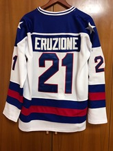 1980 Miracle On Ice Team USA Mike Eruzione 21 Hockey Jersey White All stitched(China)