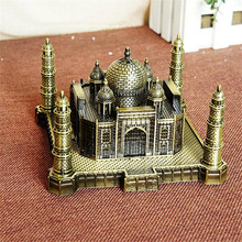 India Taj Mahal Decoration Metal Crafts World Landmark Building Architecture Iron Model Art Home Taj Mahal Suveniour Gift Crafts(China)