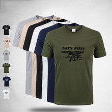 T Shirts Men Navy Seals Tactical SWAT Army Military Polices Special Forces Combat T-shirt Camouflage Cotton Short Sleeve Tees