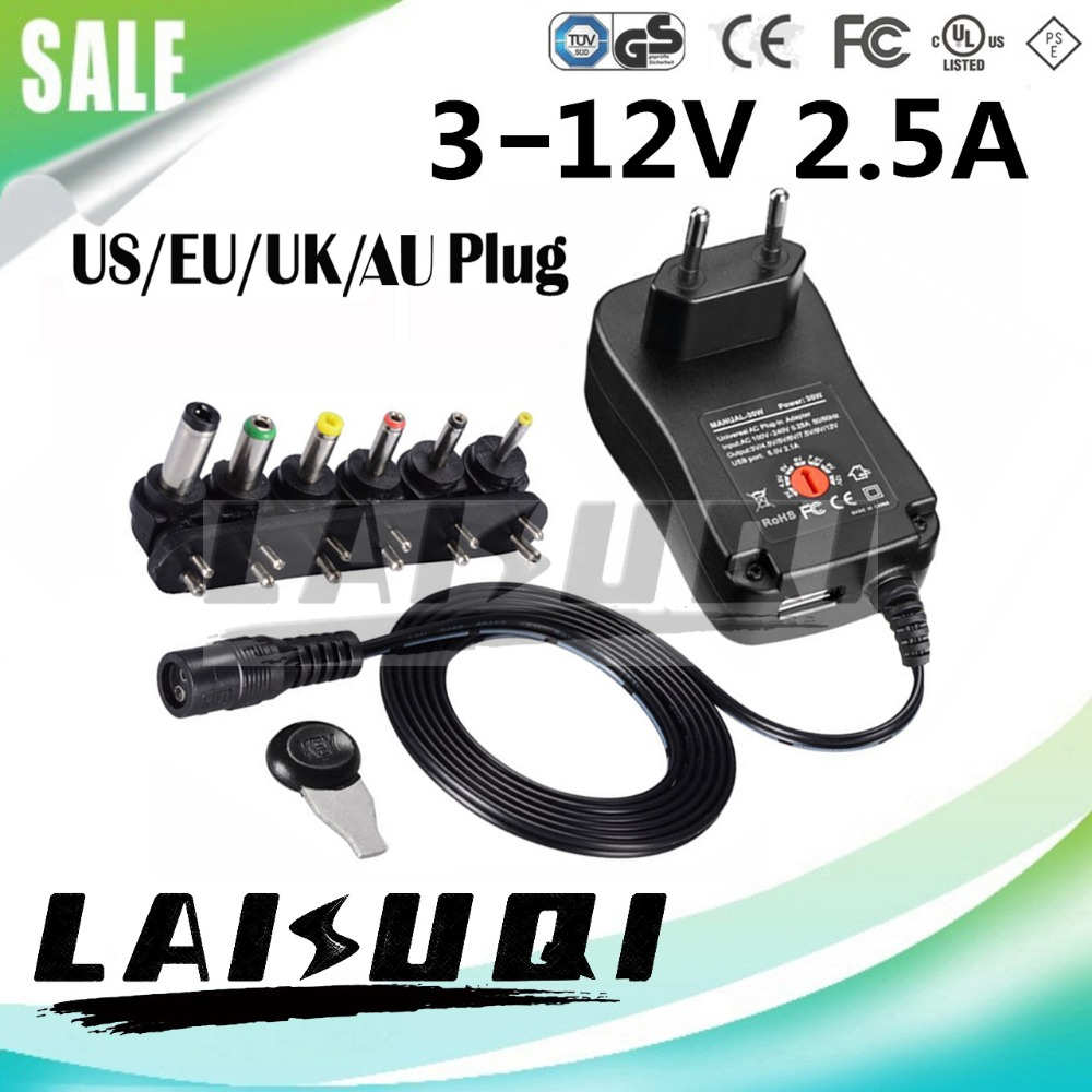 3V 4.5V 5V 6V 7.5V 9V 12V 3-12V 2A 2.5A 30W AC DC adaptor switching adjustable power adapter supply for Electric Hand Drill new(China)