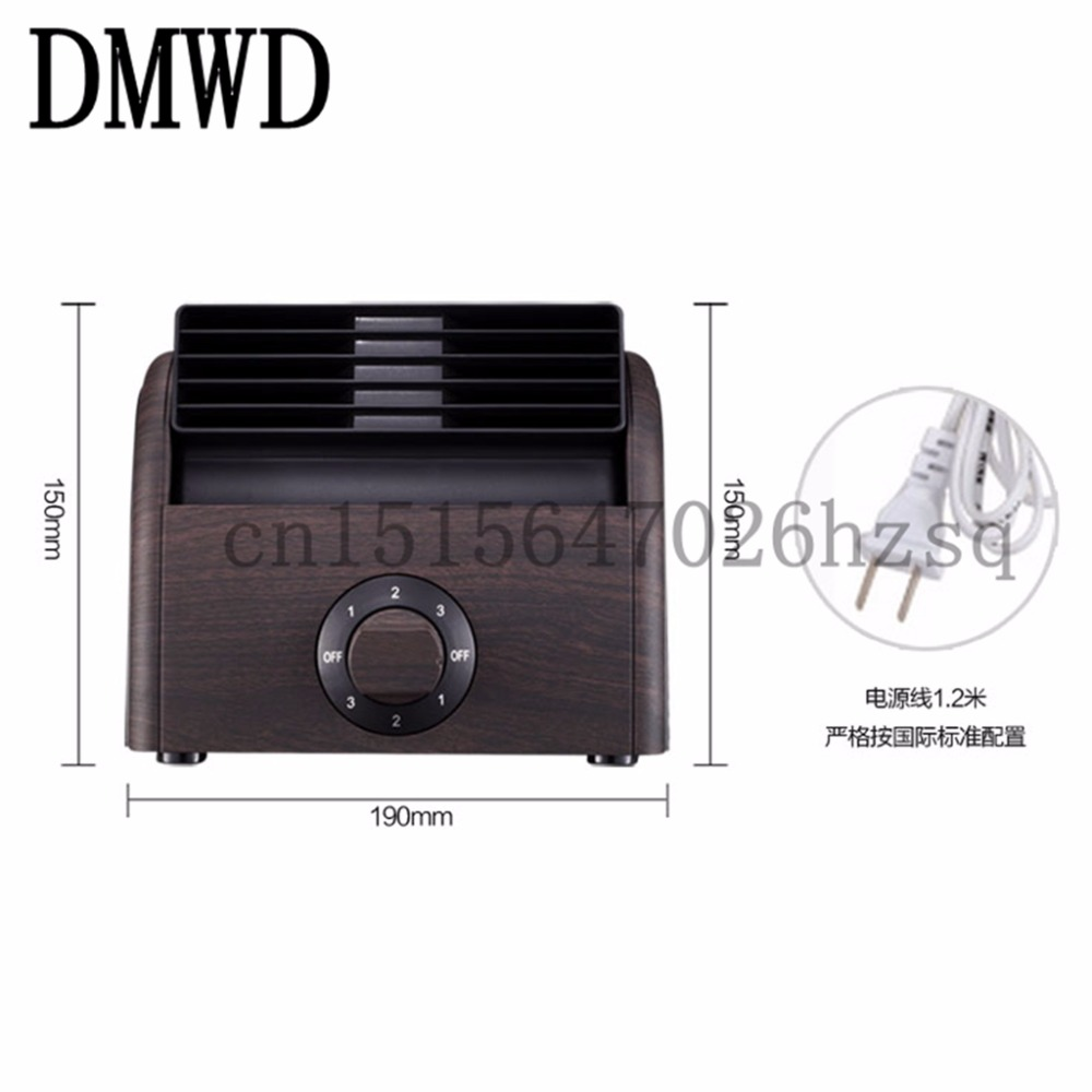DMWD Mini fan mute office desktop small fan dormitory gale force bladeless refrigerator 3 gears Twin turbos ABS grain 30w<br>