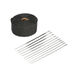 US STOCK KKmoon 5m Exhaust Heat Wrap Turbo Pipe Heat Insulated Wrap for Car Motorcycle(China)