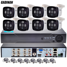 GADINAN Home AHD 960P 8CH CCTV Security System 8 channel 1080N AHD DVR 8pcs 1.3MP Outdoor Bullet Camera Kit Video System P2P