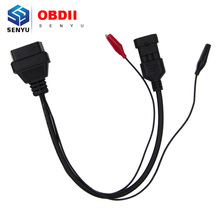 For Fiat 3 Pin Alfa Lancia to 16 Pin Auto OBD OBD2 Diagnostic Extension Cable For Fiat 3Pin to 16Pin Connector Cable(China)