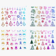 24pcs Rainbow Christmas Nail Art 3D Stickers Christmas Tree Reindeer Snowflakes Nail Stickers Self Adhesive(China)
