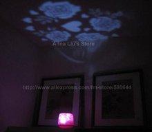 Rose Lamp/Rose Projector Lamp/Rose Projection Night Lamp/Projection Lamp & 5PCS/Lot Free Shipping